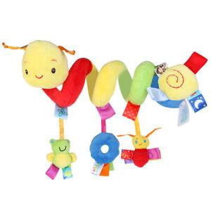 Babybett-Kinderwagen-Rasseln-Greiflinge-Spiral-Sitz-Spielzeug-HaengendeVerzierung