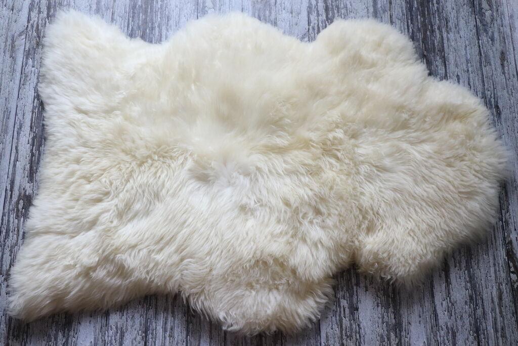 Lot de 3 super extralarge NEUF Authentique Peau De De De Mouton Tapis Blanc/Ivoire, 130cm/52