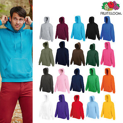 Fruit Of The Loom  Mens Classic 80//20 Hooded Sweat Jacket