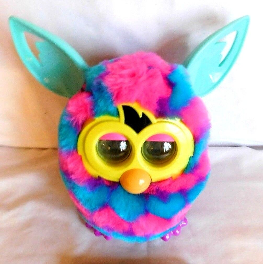 RARE FURBY BOOM PINK AND blueE HEARTS HASBRO A6118 A4342 with Box