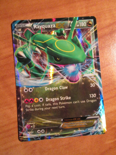 NM Pokemon RAYQUAZA EX Card ROARING SKIES Set 60//108 XY X and Y Ultra Rare 180HP