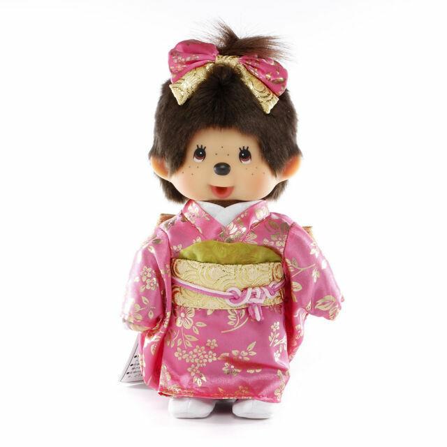 Original Sekiguchi 8 Tall Girl Monchhichi in Japanese Outfit by Monchhichi