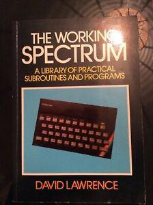 the-Working-Spectrum-David-Lawrence-paperback-Book-Sinclair-Computing-Programs