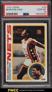 1978 Topps Basketball Bernard King ROOKIE RC #75 PSA 10 GEM MINT