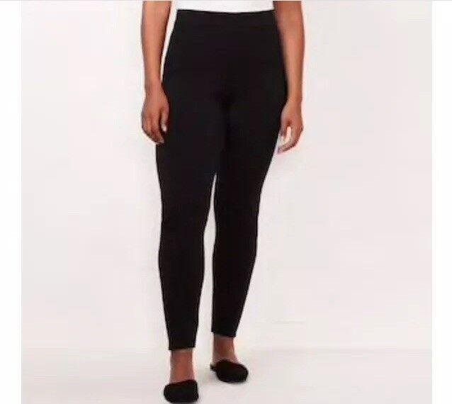 1362b9e73bfa80 LC Lauren Conrad Womens Plus 3x Short Black Leggings Mid Rise Slim SKINNY  for sale online | eBay