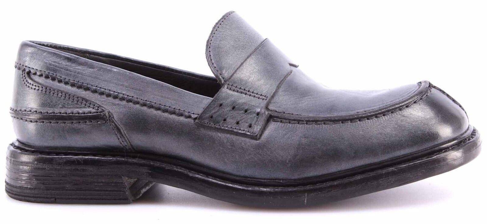 shoes women Mocassini Slip On MOMA 73502-6F Ghost Platino Pelle Vintage