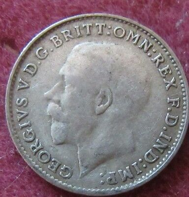 1921 George V Three Pence Silver Coin
