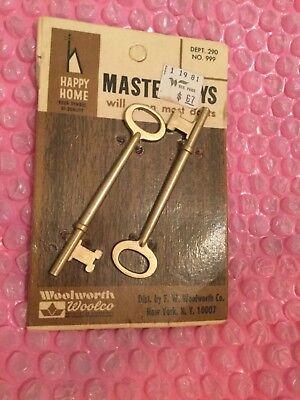 Vintage-Brass Lion Door Key-Key W 2 Wrench-Garden-geheimverschl