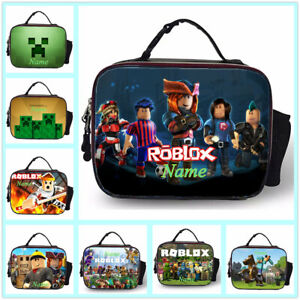 Roblox-Boys-Man-039-s-School-Insulated-Lunch-Bag-Kid-039-s-Food-Hand-Bag-Personalised