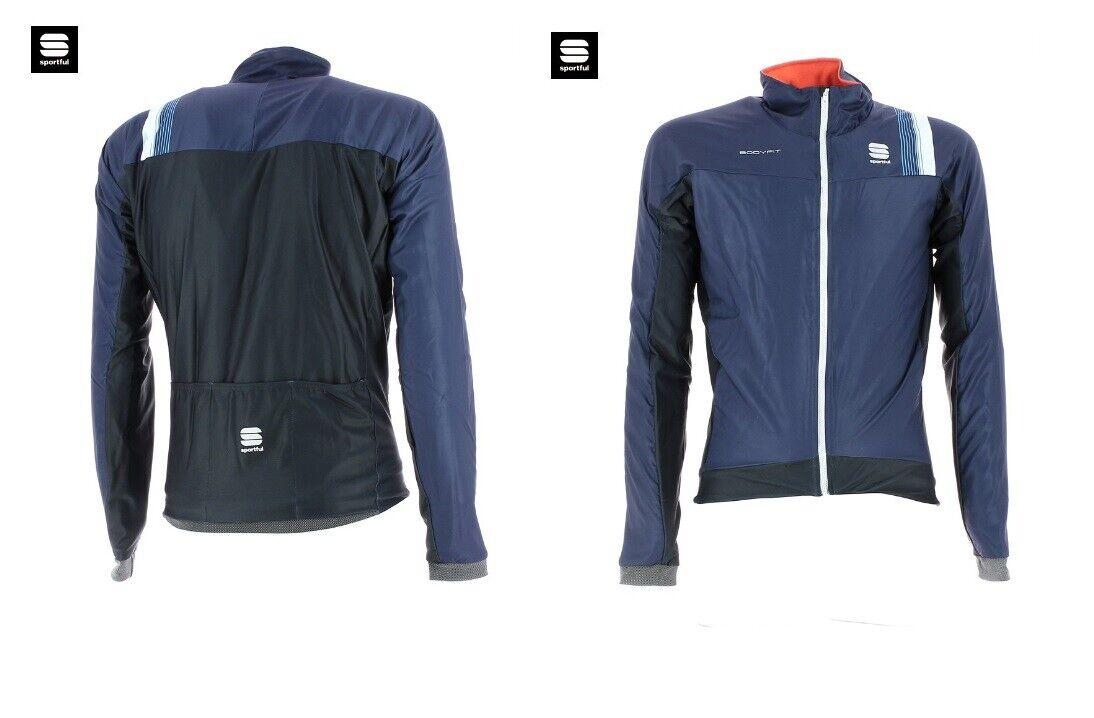 Chaqueta Sportful Bodyfit Pro Thermal Navy Blau Cycling Jersey Medium