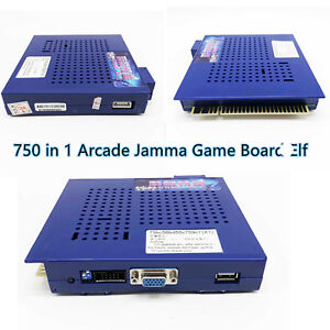 Details about One pc 750 In 1 Game Elf POWER PCB Arcade JAMMA Game Board  CGA/VGA Output MAME