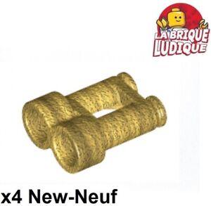 Lego-4x-Minifig-utensil-jumelle-binoculars-twin-or-dore-pearl-gold-30162-NEUF