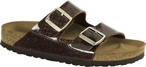 Details zu Birkenstock Arizona normal magic snake brown braun Sandalen Pantolette 1011766
