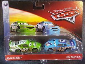 Cars 3 confezione 2 auto-brick yardley e cal weathers  DXV99//FLH64  Mattel