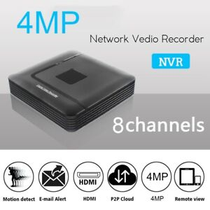 8Ch-4MP-NVR-Video-Recorder-H-265-ONVIF-Motion-Detect-fuer-Voll-HD-IP-Kamera-H5Z8