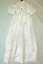 Christening-or-Baptism-dress-Satin-with-smocked-bodice miniature 4