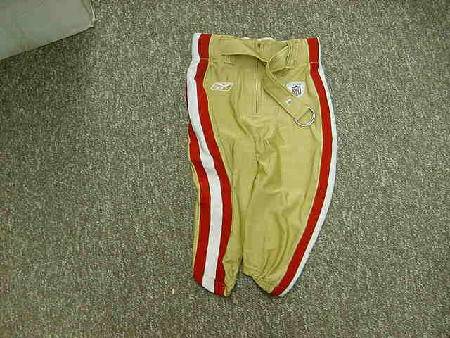 2009 San Francisco 49ers Official Game Worn Used Football Pants Size-30 XShort