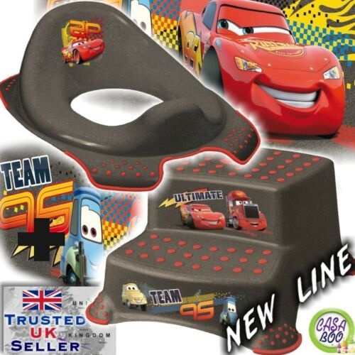 Disney CARS NEW Toddler Toilet Training Seat /& Double Step Stool anti-slip