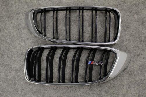 "Org 4er BMW Ziergitter Set /""m4/"" 8068583 Calandre rénale f82 f83 Chrome Noir"