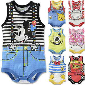 Baby-Newborn-Boys-Girls-Lovely-Cartoon-Bodysuits-Jumpsuit-Romper-Sunsuit-Outfits