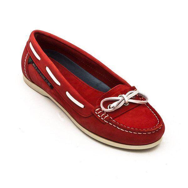 Nuevo Dubarry mujer Fiji Fiji Fiji Nubuck Sin Cordones Cubierta Barco Zapatos Para Rojo Nuevo Y En Caja Uk 8  barato