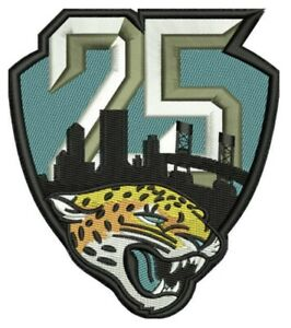 JACKSONVILLE-JAGUARS-25TH-ANNIVERSARY-PATCH-1995-2019-SEASON-NFL-FOOTBALL