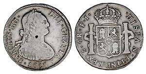 4-SILVER-REALES-4-REALES-PLATA-CHARLES-IV-CARLOS-IV-SANTIAGO-1807-VF-MBC