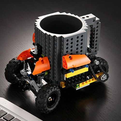 Creative Building Build-On Brick Mug Type DIY Block Puzzle Coffee Drink Tea Cup