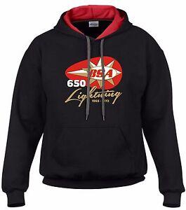Cafe Sweater Retro Classic cappuccio con Lightning cappuccio Felpa Bsa con Biker Top 650 Racer qx8UORwP