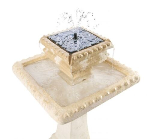2 Level Square Water Fountain Feature Cascade Classical Stone Effect Garden