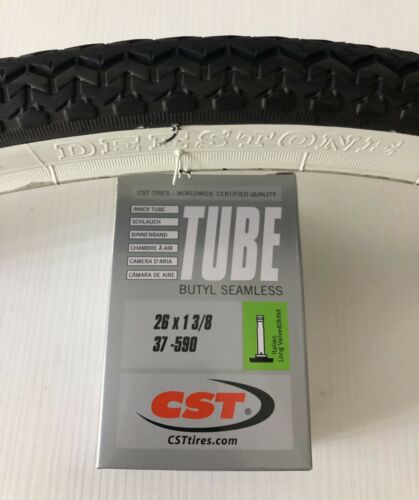 "1 Air CTS 26/"" 1 3//8 citybike Holland Black 1 Tire 26 1 3//8"