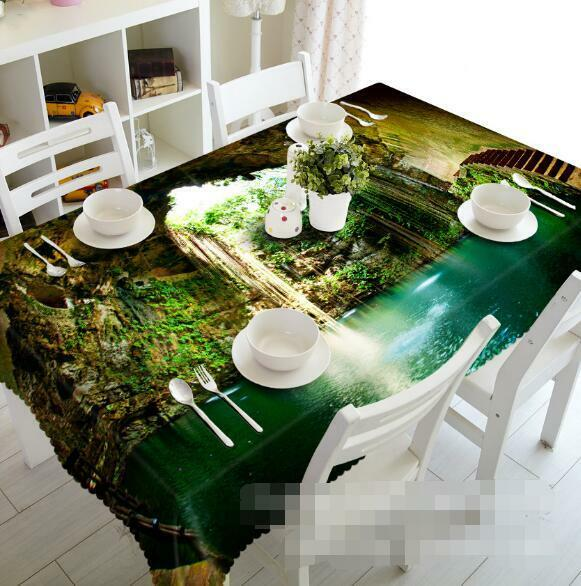 3D Lake 44 Tablecloth Table Cover Cloth Birthday Party Event AJ WALLPAPER AU