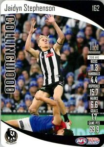 New-2020-COLLINGWOOD-MAGPIES-AFL-Card-JAIDYN-STEPHENSON-Teamcoach