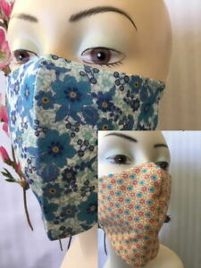 FACE MASK Floral washable Shield Fashion Designer French Fabric AU 100% COTTON