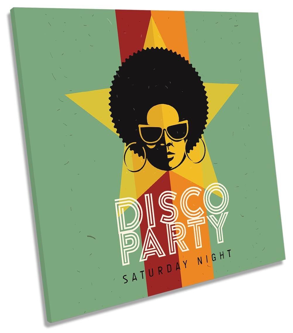 Disco party musica pop incorniciato stampa tela QUADRATO Wall Art