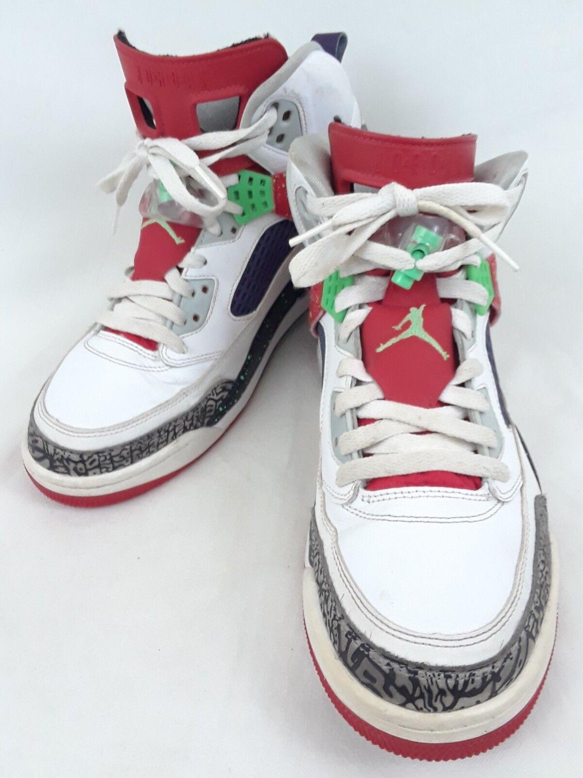 Nike air jordan spizike 315371-132 bianco / rosso / veleno uomini verdi 'sz carino!