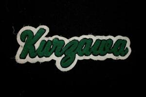 VINTAGE-1960-039-S-1970-039-S-SCHOOL-LOGO-GREEN-AND-WHITE-PATCH-9-034-X-3-1-2-034