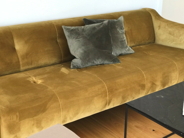 Sofa, velour, 3 pers. , Timing, Sofa 216 l  90højde 72.…