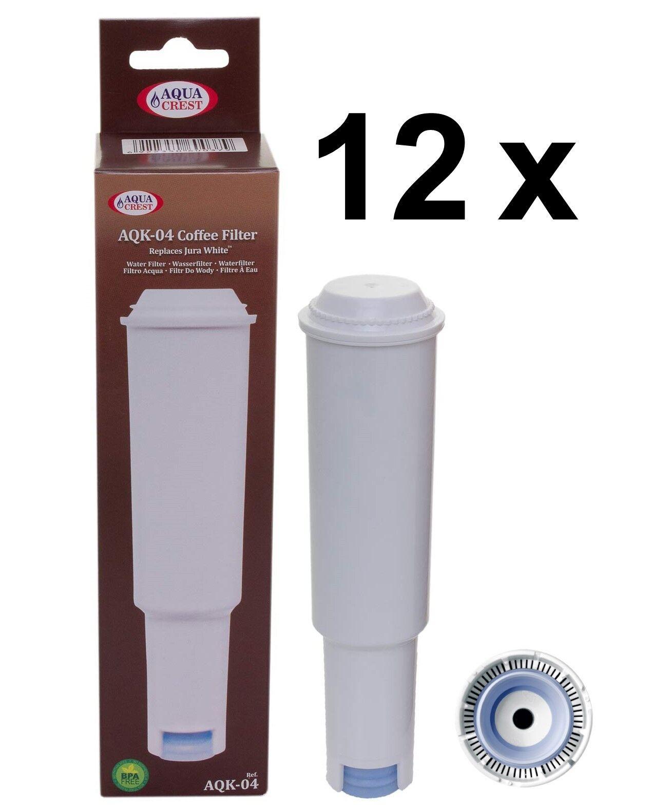 12 x Filter voituretridges aqk-04 Compatible Jura Impressa blanc nouveau