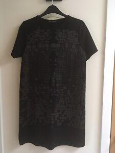 ZARA-Black-Animal-Print-Tunic-Dress-Medium-Brand-New-With-Tags