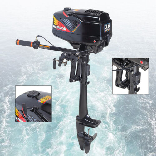 3.6HP 2 Stroke Boat Outboard Motor Boat Engine Water Cooling CDI System USA