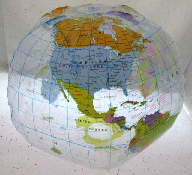 Inflatable Earth Globe ~ 10 inch ~ From Learning Tree ~ Geographical
