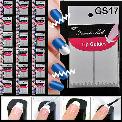 5pcs 18 Style Chic DIY French Manicure Nail Art Tips Tape Sticker Guide Stencil