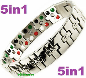Das Bild Wird Geladen TITANIUM Magnetic Energy Germanium Armband Power Bracelet Health