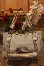 Coach Kristin Spectator Leather East West Zip Tote Bag 16810 GRAY (PU4000