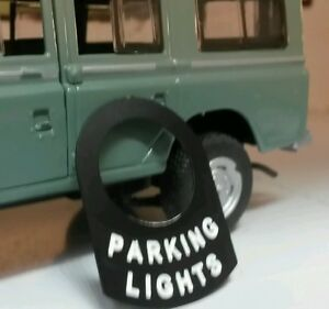 Land Rover Serie 1 2 2a 2 Interruptor Placa Etiqueta Dormobile