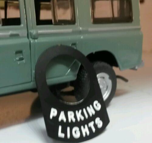 LAND Rover Serie Lucas Interruttore Scheda etichetta Holding CAMPER luci di parcheggio