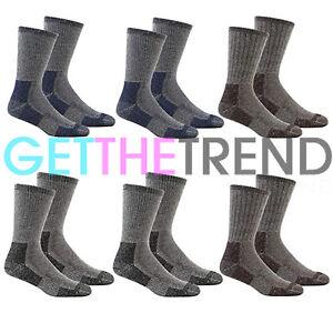 a15ed41bd24 Mens 6 Pack Cushioned Walking Socks Mens Hiking Trail Boot Thick ...