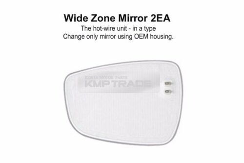 Rearview Blind Spot Wide Curved Side Glass Mirror for KIA 2009-2015 Borrego