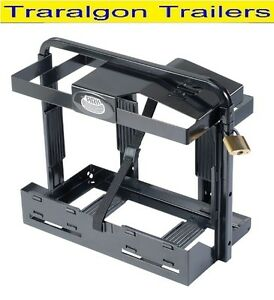 Details about Jerry Can jerrycan Holder bracket Camper Trailer front entry  4x4 lockable ACC43